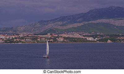 Yacht sailing coastal watters - Yacht sailing Split coastal...
