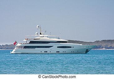 Yacht in the Adriatic Sea. Croatia