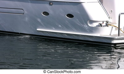 Yacht - A gorgeous yacht moored in a downtown marina waiting...
