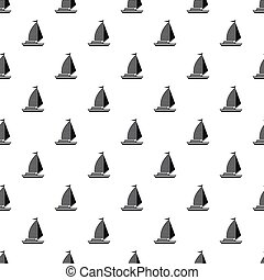 Yacht with sails pattern, simple style