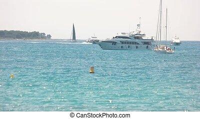 Yachts at the sea.
