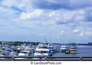Yachts at West Palm Beach, Florida