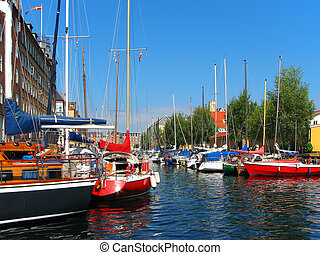 yachts, copenhague, danemark