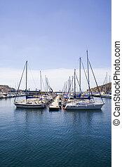 Yachts in a Marina.
