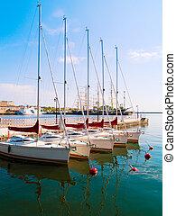 city port of Gdynia, Poland