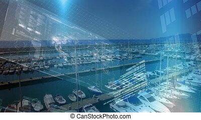 yachts, interface, port, numérique