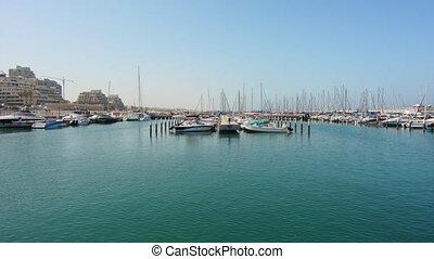 Ashkleon Marina Israel - Yachts mooring in Ashkleon Marina...