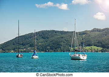 yachts on the lake