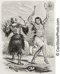 Yacutsk shamans old illustration. Created by Adam after De...