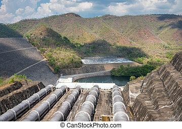 yai, represa, khwae, srinagarindra, tailandia, rio