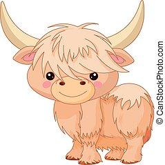 Yak - Illustration of cute yak