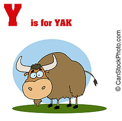Yak With Y Is For Yak Text