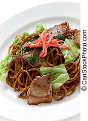 yakisoba, japanese food