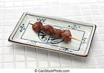 yakitori, brochettes, japonaise, gizzard, poulet grillé