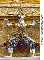 Yaksha Statues at Wat Phra Kaew