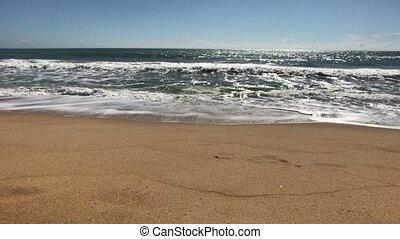 yala, océan indien, orageux, vagues, sri lanka