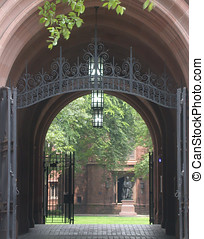 Yale Old Campus - Photograph from the New Haven, CT green,...