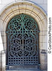Yale University Doorway Iron Gate - Yale University Doorway,...