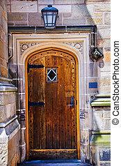 Yale University Doorway Wooden Door