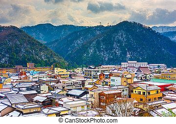 Yamanaka Onsen, Ishikawa Prefecture, Japan town skyline in ...