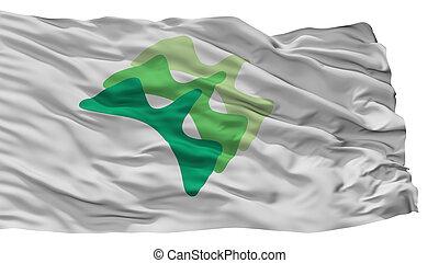 Yamanashi City Flag, Japan, Yamanashi Prefecture, Isolated ...