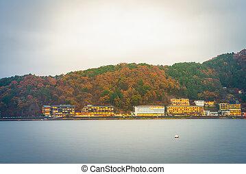YAMANASHI, JAPAN - NOVEMBER 22: Kawaguchiko in Yamanashi, ...