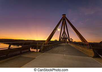 Yandhai Nepean Crossing bridge at sunset