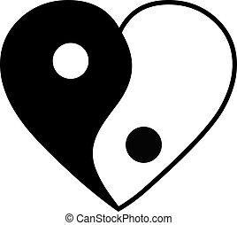 yang de yin, corazón