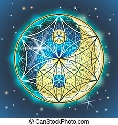 yang de yin, sacral, geometría