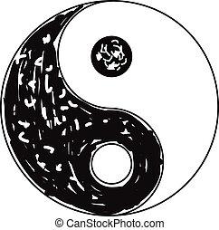 yang, simbolo, yin