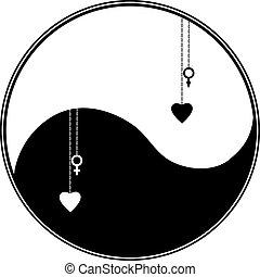 yang, symbole, ying