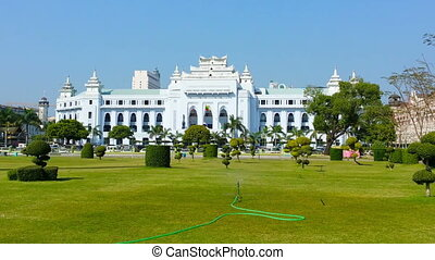 Yangon City Hall, Myanmar (Burma) - Video 1920x1080 - Yangon...