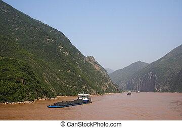 yangtze folyó, szállít, szén