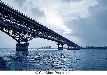 yangtze rzeka, nanjing, most
