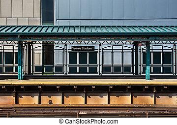 Yankee Stadium Train - Train platform at Yankee Stadium...
