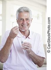 yaourth, age moyen, manger, homme