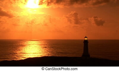 Yaquina Head Lighthouse, time lapse