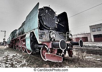 yard barre, vapeur, locomotive