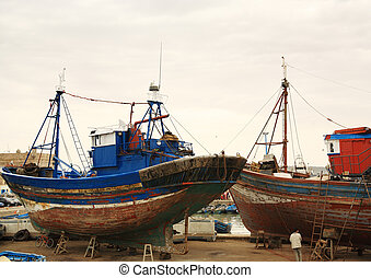 yard, bateau, essaouira