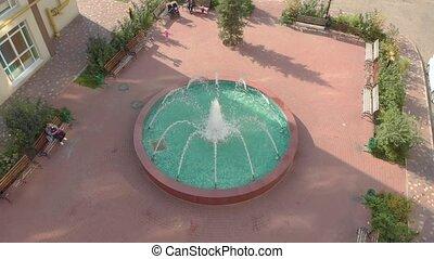 yard, fontaine