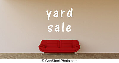 Yard Sale Concept with Home Interior Art