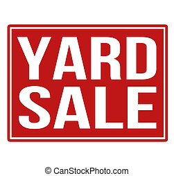 Yard sale red sign isolated on a white background, vector...