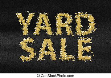 Yard sale sign, Yard Sale Text