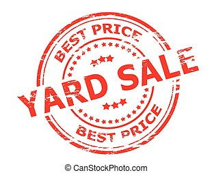 Yard sale - Stamp with text yard sale inside, vector...