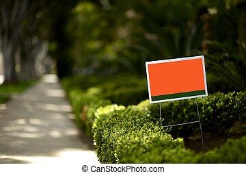 yard, signe