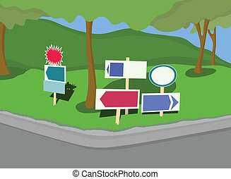 yard, signes