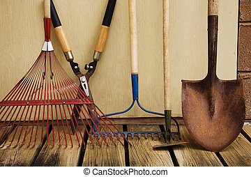 Yard Tools - A still life of various tools used in the yard...
