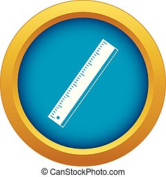 Yardstick icon blue vector isolated on white background for any design