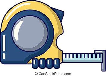 Yardstick icon. Cartoon illustration of yardstick vector icon for web.