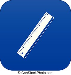 Yardstick icon digital blue for any design isolated on white vector illustration